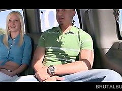 seducing blonde picked up by the sex bus crew