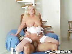 Mother rides her daughters husbands cock