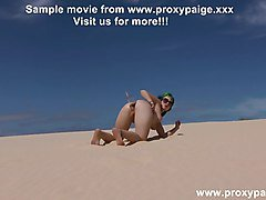 Wine bottle in ass at sand dunes Proxy Paige gape + prolapse