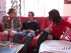Anal casting of a young french slut