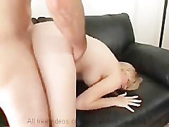 young blonde creampied for casting