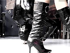 Lick the godess boots