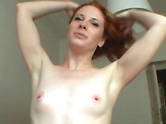 Sexy czech redhead got huge facial