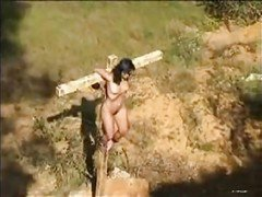 Outdoor Female Cross Torture