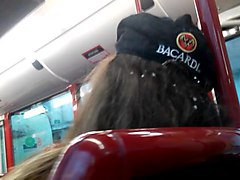 bus flashing cum hair