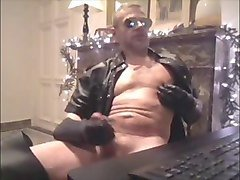 leather jerk off