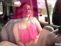 teen mia scarlett blows and gets fucked in the back of a car