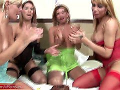 shemale foursome have a wild party