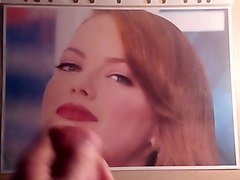 cumtribute on emma stone