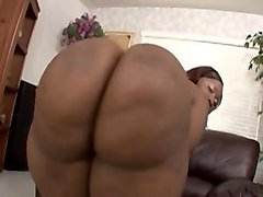 bbw ebony fat ass - cum in mouth