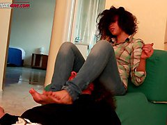 elisa s first time - full version - foot domination video
