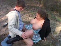Milf With Big Boobs Fucked Hard Outdoor
