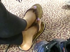 HS Friend Candid Beautiful Ebony Feet in Library 2