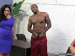 Sheila Marie and stepdaughter Alana Rains play with a BBC
