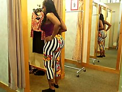 victoria cakes trying on pants