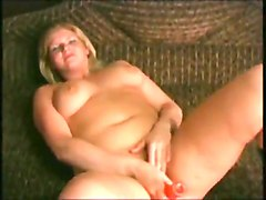 Hot Chubby Plumper masturbating and showing tits